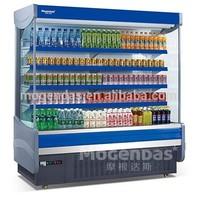 supermarket milk and beer refrigerator / supermarket open cooler for beverage