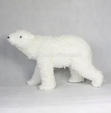 2015 artificial white color polar bear christmas decoration