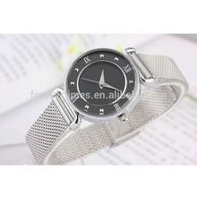 Best Diamond Quartz Women and Men's Mesh Band Super Thin Design Watch Stainless steel watch