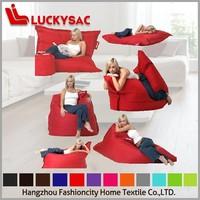 colorful outdoor waterproof bean bag, float beanbag chair, double seat big bean lounge furniture
