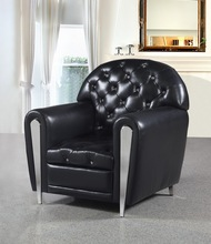 JR021 elegant red color genuine leather leisure chair living room single chair visitor hotel room chair wedding furniture