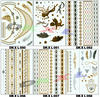 2015 fashion gold temporary tattoos , women new temporary tattoo sticker