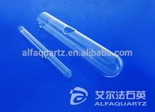 Quartz test tube, quartz reactor tube, round bottom, with hole on wall ,5ml~25ml