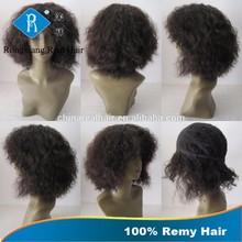 Cheap Natural Real Remy Hair Afro Kinky 100% Human Hair Wig