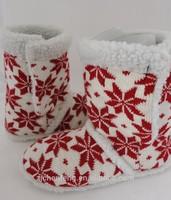 warm snow pattern snow boot winter indoor boot