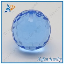 low price blue synthetic glass bead