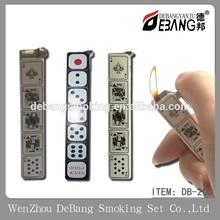 Cigarette card long flame lighter, homemade lighter