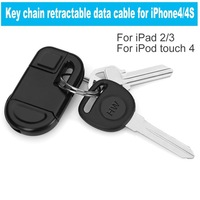 Key chain retractable USB charging cable portable data cable for iphone4