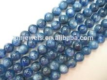 naturales en bruto cianita azul ronda cuentas 10mm grado aaa 16 pulgadas por capítulo