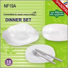 19pcs dinner set Opal glass dinner set Arcopal dinnerware