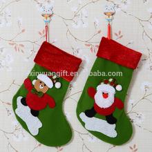 2015 Hot sale New Design Christmas sock Christmas stocking Decorative stocking