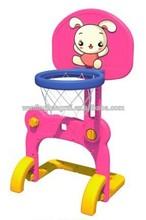Lovely Plastic Children Portable rabbit Basketball stand