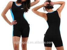 Wholesale Nylon Spandex Sexy Bodysuit Zip Up Women Fitness Sportswear