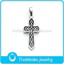 TKB-P0256 Enamel Painting in Jewelry Cross Pendant for Boyfriend
