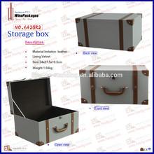 leather decorative vintage storage trunk