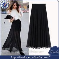 high quality elegat chiffon maxi skirt 2015 wholesale