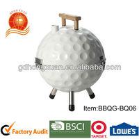 Golfball wood hand tripod BBQ grill