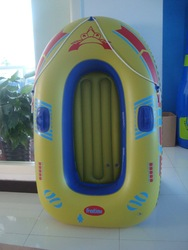 cheap inflatable plastic fishing boat toy with rope