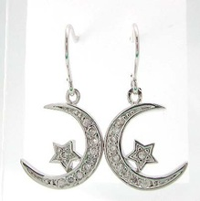 2015 fashion jewelry moon and star earring