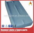 2015 hecho en china trituradora de impacto de piezas de desgaste de la placa de martillo trituradora de impacto de barra de golpe