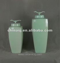 Handmade celadon glaze ceramic storage jar WRYUE20