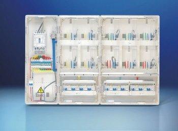 single phase electric meter box transparent case, IP54 Electronic meter box
