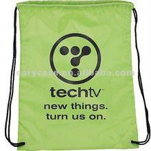lime Olympian Nylon Drawstring Backpack - Full Color