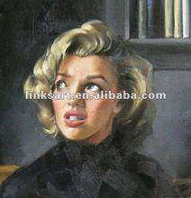 Marilyn Monroe Famous People Portrait Oil Painting