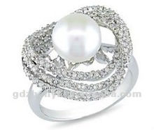 Vogue male/female rings jewelry with Zircons for decoration