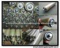 Js galvanizado tubo transportador de rodillos, capa de plástico de la cubierta seleccionable
