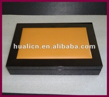 2012 delicate vip piano black wooden chocolate gift packaging boxes manufacture