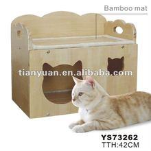 cat shaped cat bed