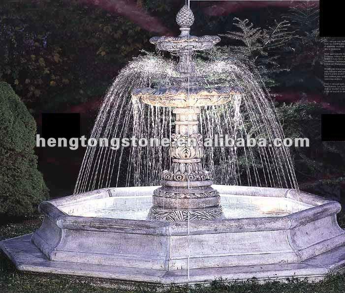 M rmol moderna fuente de agua productos de piedra para - Fuentes modernas para jardin ...