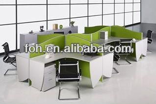 4 personne poste de travail avec blanc ordinateur de for Mobilier bureau 4 personnes