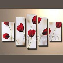 Popular modern group wall decor canvas art oil painting