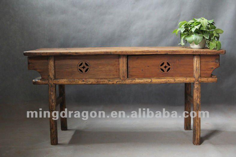Cinese pino mobili antichi in legno di riciclo shanxi legno colore naturale due porta tavolo - Mobili in pino naturale ...