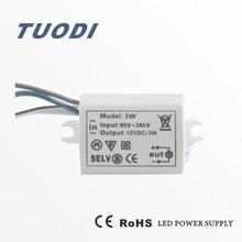 TDL-3W led led power supply constant voltage 12v 110vinout