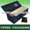 high class wine paper box embossing and gold foil