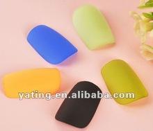 colourful matte nail art design picture