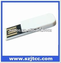 Clip shaped USB flash white color, Pen drive 8GB, Mini USB