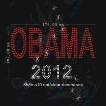 bling letter rhinestone transfer obama 2012