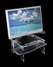 Acrylic laptop stand . Clear Monitor organizer