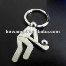 Metal Hockey Keychain