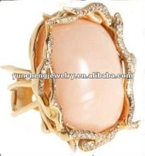 2012 fahison big Natural stone ring