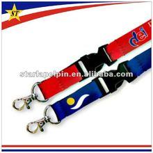 promotion staff id cheap customerized car logo polyester neck lanyard