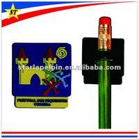 cheap school souvenir gift custom design soft pvc plastic kids pencil topper