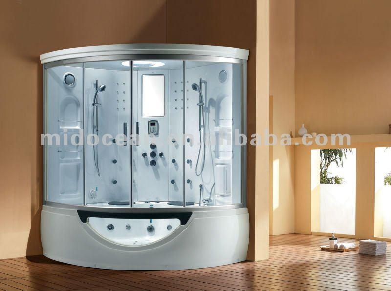 Luxo maior vapor de banho com banheira de hidromassagem