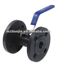 1 PC Wide type Lever Operated Carbon Steel Flange Ball Valve