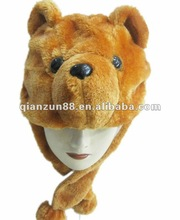 2012 fashion trendy warm plush winter cute fuzzy animal hat