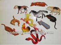 lovely small plastic animal figurines